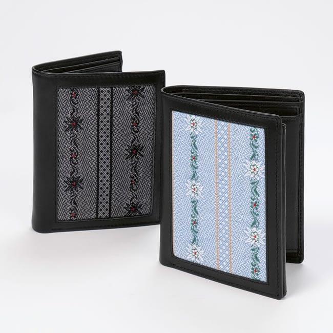 Klapp-Portemonnaie mit Edelweiss