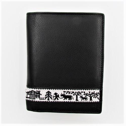 Portemonnaie mit Stickereiband Scherenschnitt