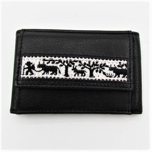 Mini Portemonnaie mit Stickereiband Scherenschnitt