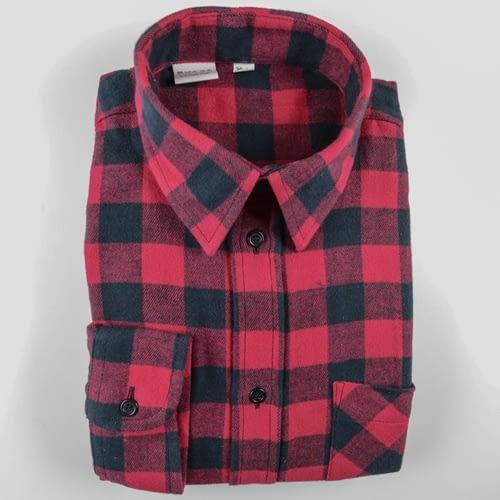 Holzfällerhemd kariert rot/schwarz