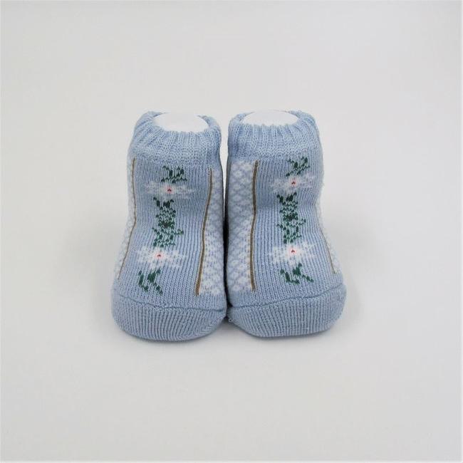 Babysocke hellblau Edelweiss
