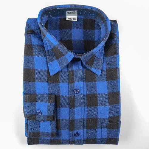 Holzfällerhemd blau/schwarz kariert