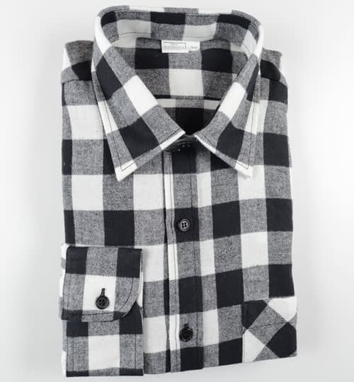 Holzfällerhemd weiss/schwarz kariert