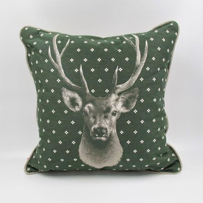 Kissen Hirsch grün