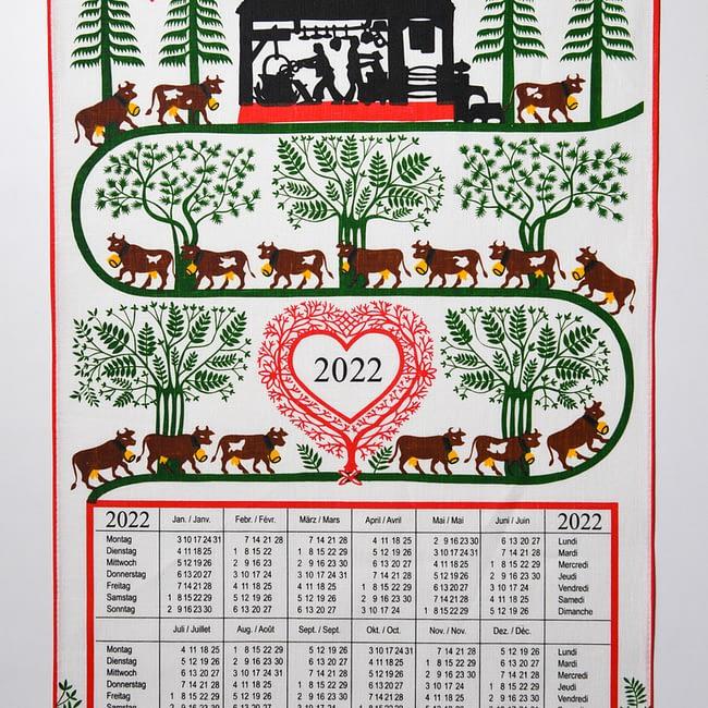 Reinleinen Kalender 2022 Alpaufzug
